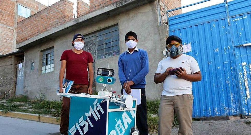 Ayacucho: universitarios construyen robot que evitará contagio entre médico y pacientes COVID-19
