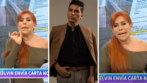 Magaly Medina y John Kelvin tuvieron una discusión en vivo hace dos días por la separación con Dalia Durán. (Foto: Captura ATV / Instagram @johnkelvinoficial)
