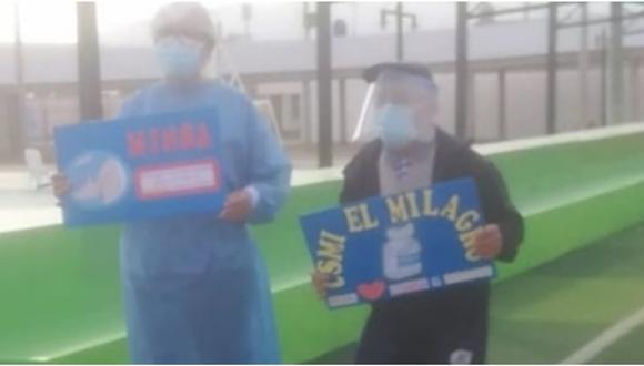 Acudió a recibir la primera dosis en el Polideportivo El Milagro, ubicado en el distrito de Huanchaco, acompañado por sus familiares.