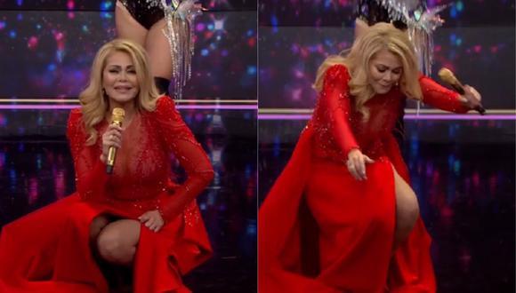 "Gisela Valcárcel en el estreno de ""El artista del año"". (Foto: Captura América TV)"
