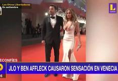 Jennifer López y Ben Affleck causan furor en Venecia