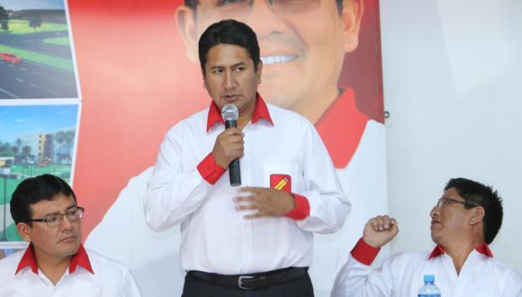 Vladimir Cerrón fue suspendido del cargo de gobernador regional meses después de haber asumido, esto debido a una sentencia del Poder Judicial. (Foto: Ángel Ramón)
