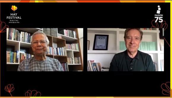 El nobel de la Paz Muhammad Yunus en el Hay Festival Arequipa 2020