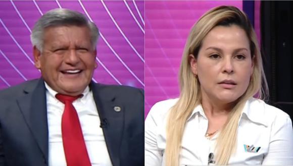 César Acuña al lado de su novia, Gisell Prado. | Foto: ATV