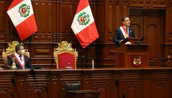 EN VIVO | Martín Vizcarra da su Mensaje a la Nación por Fiestas Patrias desde el Congreso en medio de la crisis por el COVID-19. Foto: Palacio de Gobierno.