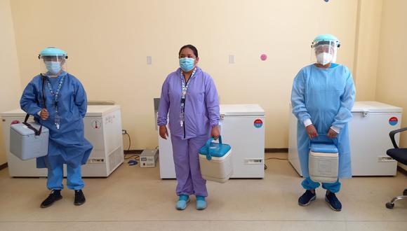 Personal de salud listo para vacunar en Ica.   Foto: Cortesía.