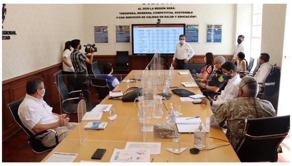 Será para quienes trabajan en primera línea, indicó Manuel Llempén, gobernador regional de La Libertad. (Foto: Gobierno Regional de La Libertad)