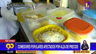 Comedores populares afectados por alza de precio en canasta básica (VIDEO)