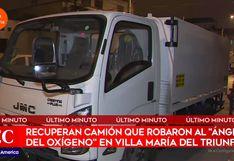 Recuperan camión robado del 'ángel del oxígeno' de San Juan de Miraflores