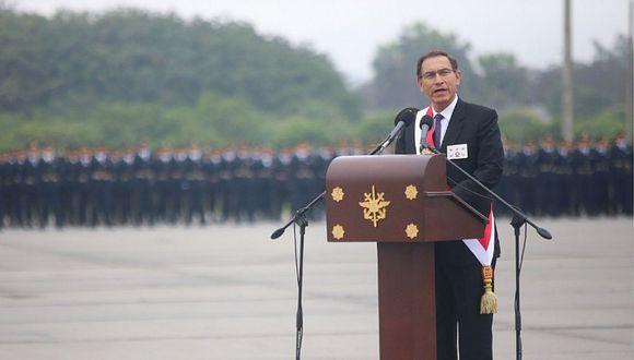"""Presidente Vizcarra asegura que """"no se cederá ni un centímetro"""" en lucha contra terrorismo"""