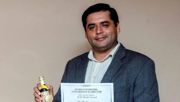 Tacneño obtiene medalla de oro con el mejor aceite de olivo