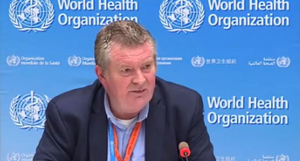Imagen del director de Emergencias de la OMS, Mike Ryan, durante la sesión informativa sobre la pandemia de coronavirus. (Foto: captura de video Twitter de la OMS)