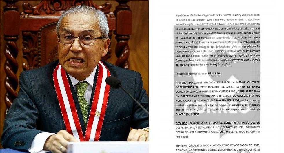 Falta una firma para suspender la colegiatura del fiscal de la Nación, Pedro Chávarry