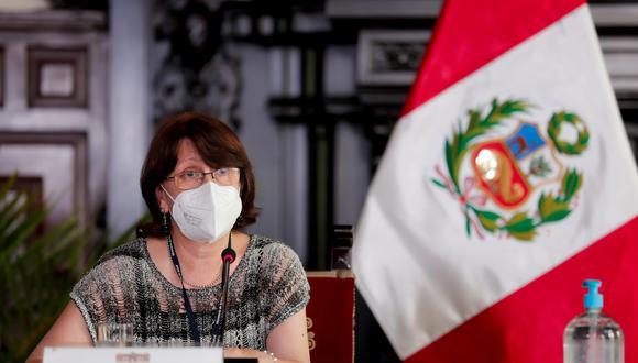 Ministra Pilar Mazzetti señaló que cifras del avance de la pandemia en plena segunda ola por el COVID-19 avanza a velocidad. (Foto: Presidencia Palacio)