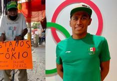 Abuelito decoró su puesto en mercado mexicano para alentar a su nieto que participa en Tokio 2020
