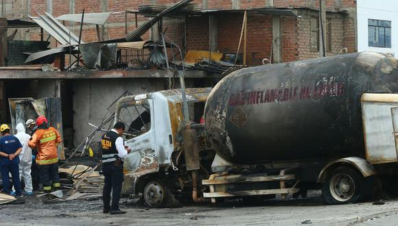 Según Osinergmin, la causa de la tragedia fue una indebida manipulación de válvulas del camión-cisterna. (Foto: Gonzalo Cirdova)