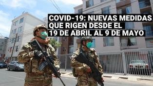 Coronavirus en Perú: Estas son las nuevas medidas que rigen desde el19 de abril al 9 de mayo
