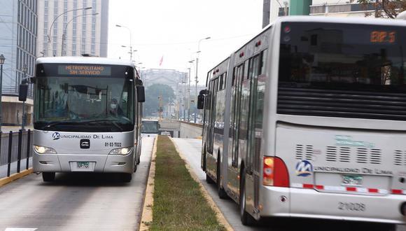 Metropolitano funcionará con servicios restringidos desde el 1 de diciembre. (Foto: GEC)