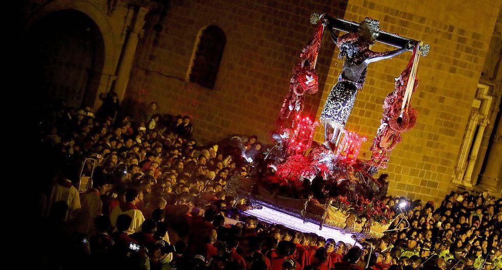Impresionante procesión y bendición del Señor de Los Temblores en Cusco (VIDEO)