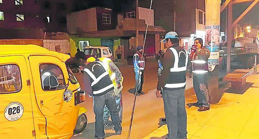 Marcona realiza operativos contra mototaxis informales