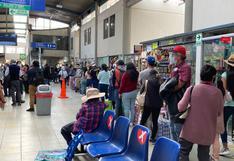 Suben los precios de pasajes en terminal terrestre de Arequipa