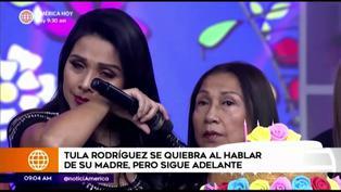 """Tula Rodríguez se quiebra por su madre: """"Yo no hago luto en ropa porque ella tampoco lo hacía"""" (VIDEO)"""