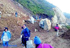 Derrumbe afecta el tránsito en  Huancabamba