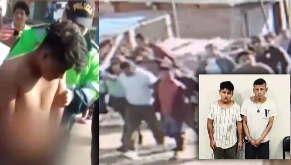 Vecinos unidos desnudan y linchan a delincuentes en Villa María del Triunfo (VIDEO)