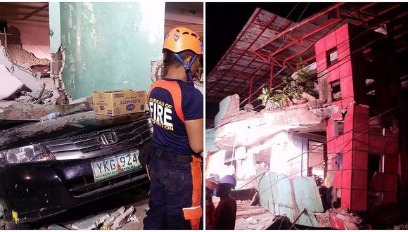 Filipinas: Dos muertos y 50 heridos deja un sismo de 6,5 grados (FOTOS)