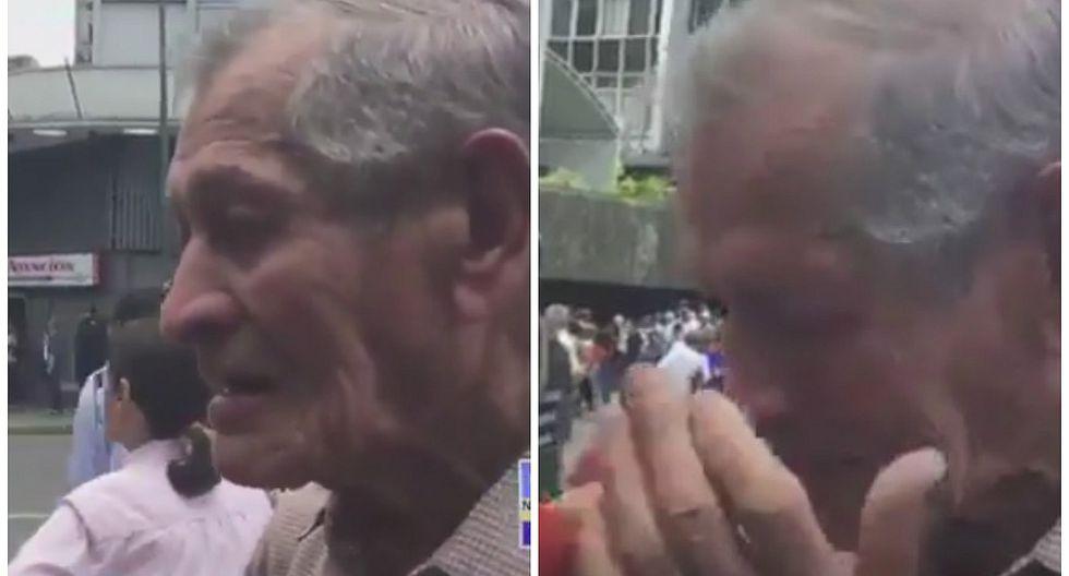 """Anciano en Venezuela: """"Mis días que me quedan de vida los voy a morir de hambre"""" (VIDEO)"""