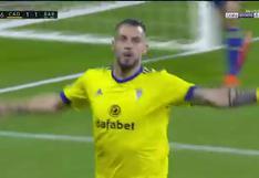 Álvaro Negredo golpeó a Barcelona y anotó el 2-1 para Cádiz en LaLiga (VIDEO)