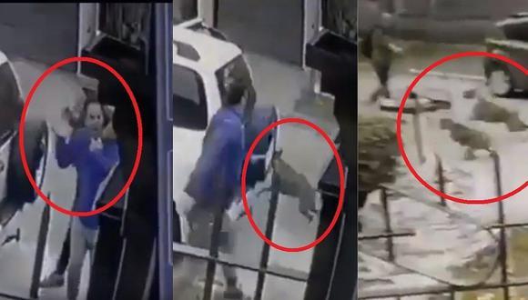 Dos perros salvan a su dueño que fue interceptado por delincuentes (VIDEO)