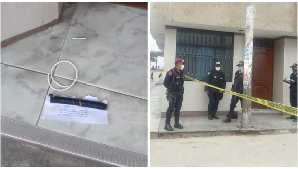 Hampones buscan amedrentar para que acceda a pagar cupo extorsivo. También los amenazan de muerte. (Foto: PNP)