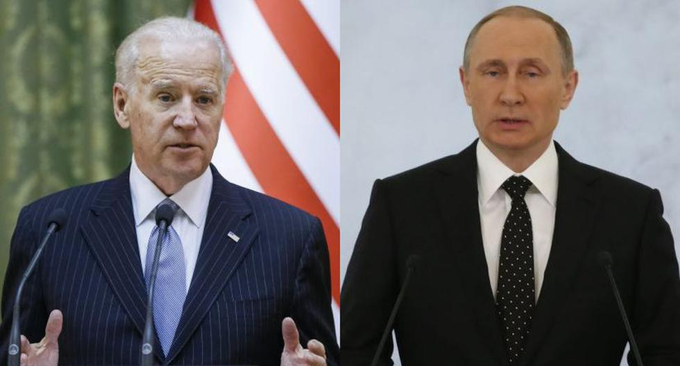 Imagen de los presidentes Joe Biden y Vladimir Putin. (Foto: EFE)