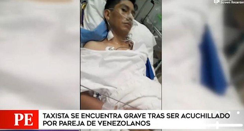 VMT: Taxista quedó grave tras ser acuchillado por pareja de extranjeros (VIDEO)
