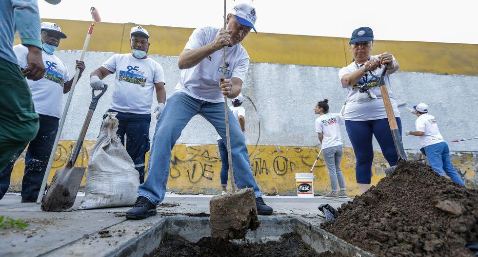 La Municipalidad de Lima realizó esta mañana una nueva operación limpieza de diversas calles y fachadas en el Cercado. (Foto: Difusión)