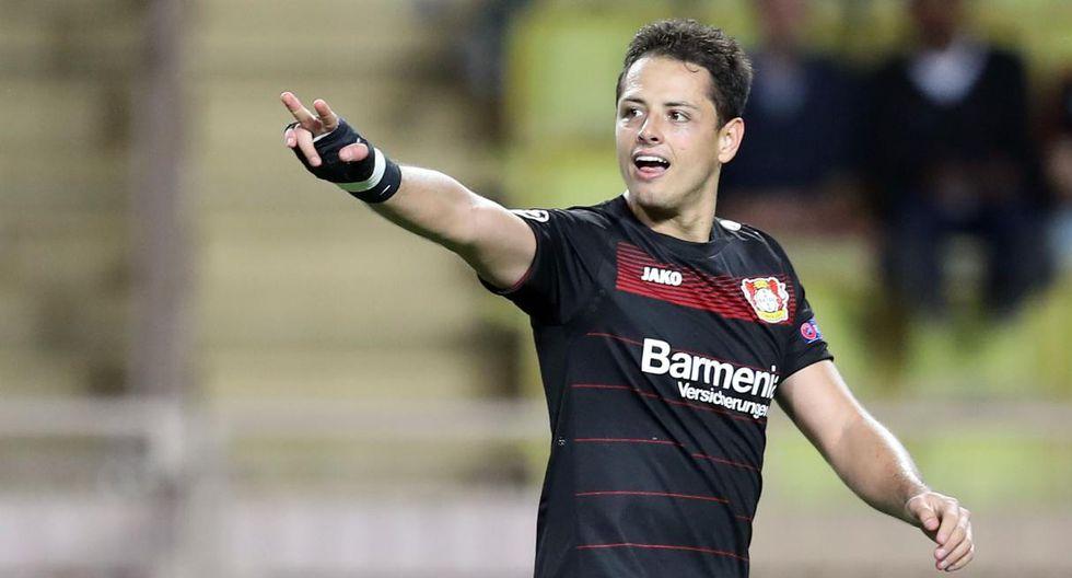 Chicharito Hernández llevó sus goles a Bayer Leverkusen por dos años. (Foto: AFP)