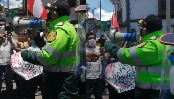 Además, el coronel Alejandro Castillo no a dispuesto que grupo Terna salgan vestidos de civiles. Video: Juan Sequeiros