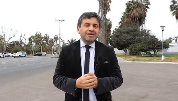 Alcalde de la ciudad de Arica, Gerardo Espíndola. (Foto: Difusión)
