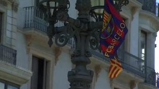 Hinchas del Barcelona se quedan sin celebrar en las calles debido a las restricciones por la pandemia
