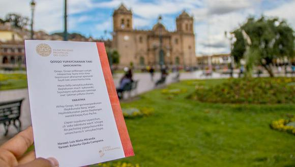 El Himno al Cusco se cantará en quechua a partir de la fecha (VIDEO)