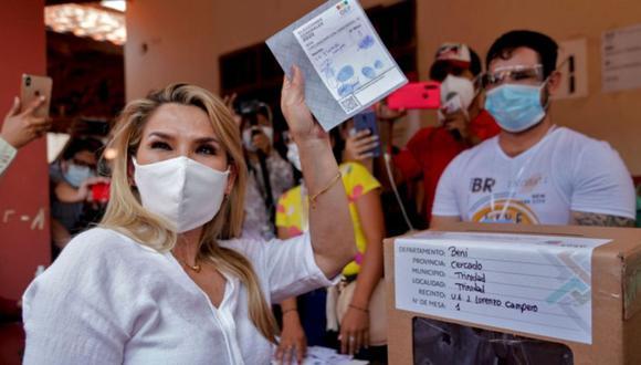"""Jeanine Añez pide """"paciencia"""" por lentitud en resultados de elección en Bolivia. (AFP)."""