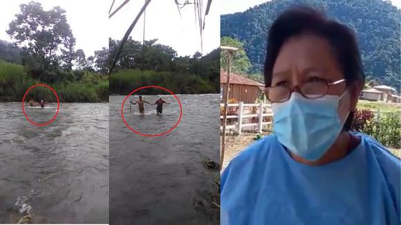 Aguerrida obstetra cruza caudaloso río Anapati para atender a familias en el Vraem (Diario: Correo)