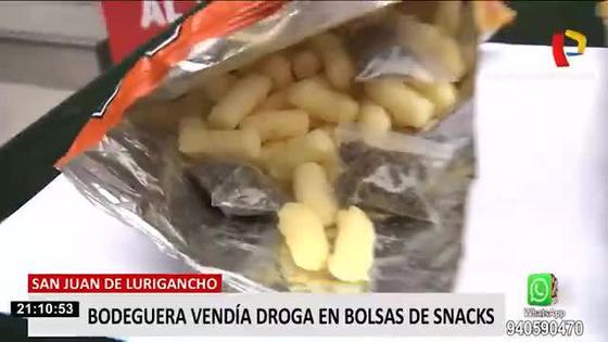 detienen-a-mujer-que-vendia-en-su-bodega-droga-camuflada-en-bolsas-de-snacks-en-san-juan-de-lurigancho