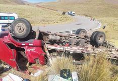Despiste de camión deja dos muertos en la vía Santa Rosa-Nuñoa
