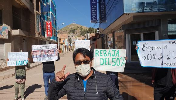 Juliaca: Multan a universitarios por protestar en Estado de Emergencia