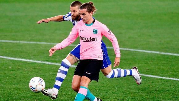 Antoine Griezmann pone el empate para Barcelona. (@LaLiga)