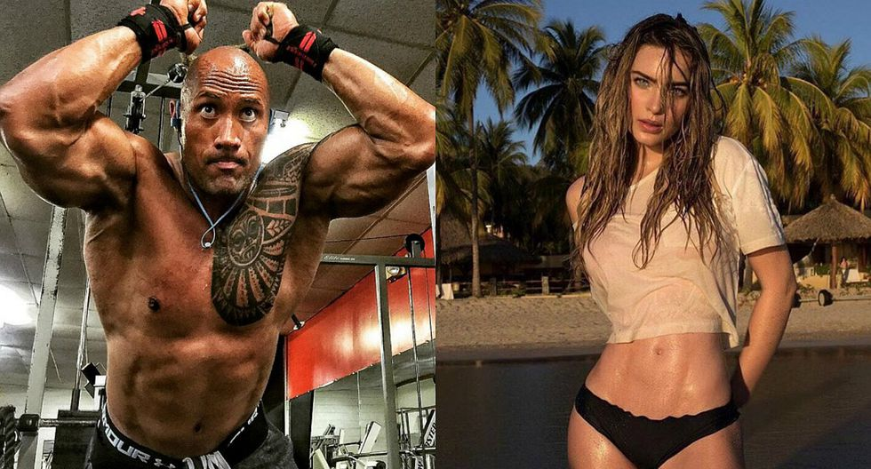 ​The rock: Dwayne Johnson presume foto con Belinda en bikini