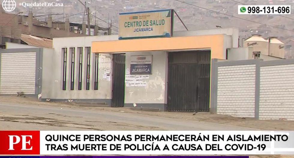 Personas que mantuvieron contacto con policía que murió por coronavirus permanecen en aislamiento domiciliario. (Captura: América Noticias)