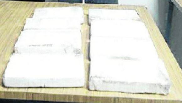 Policías decomisan 12 kilos de droga en ómnibus interprovincial